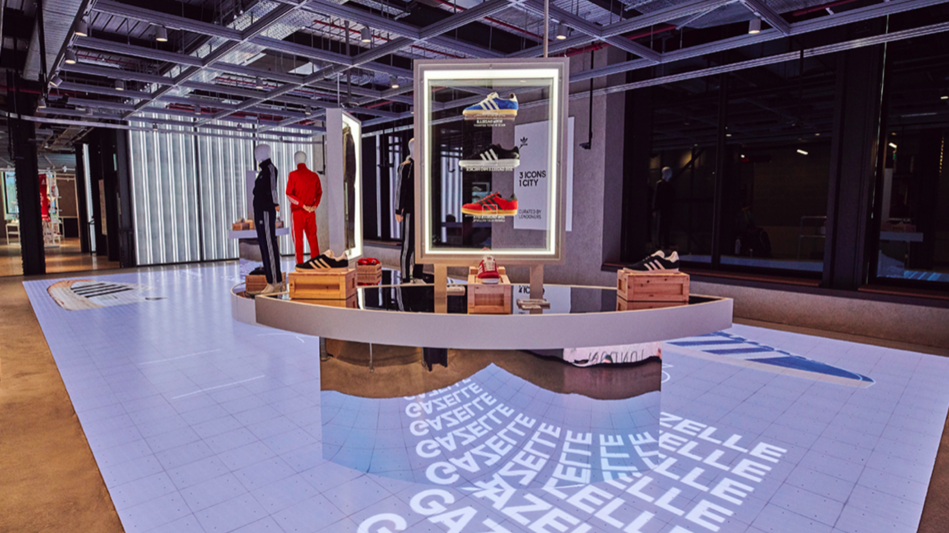 The Adidas LDN Flagship unveiled in October 2019 presents a whole new vision of store design: sustainable, digital, creative, community minded & with local flavour.